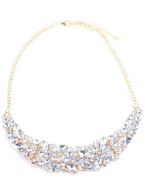 Faux Crystal Wedding Necklace - GOLDEN