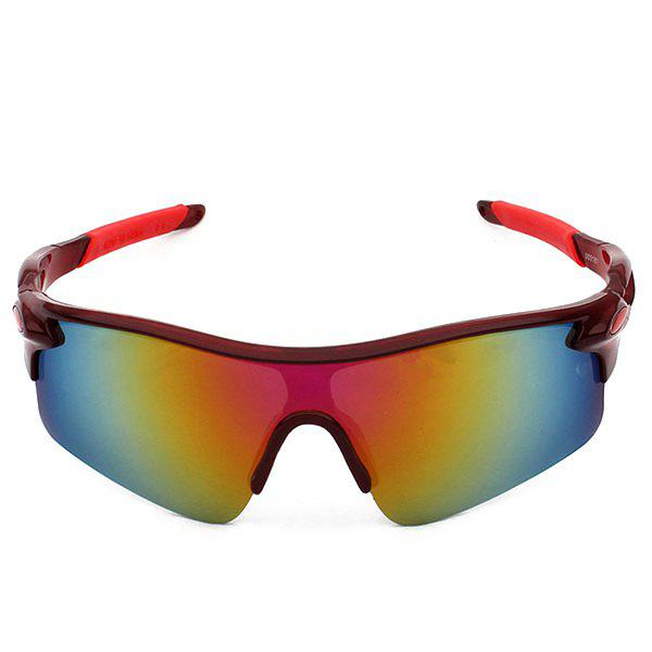 Outdoor Sport Anti UV Cycling Sunglasses - RED