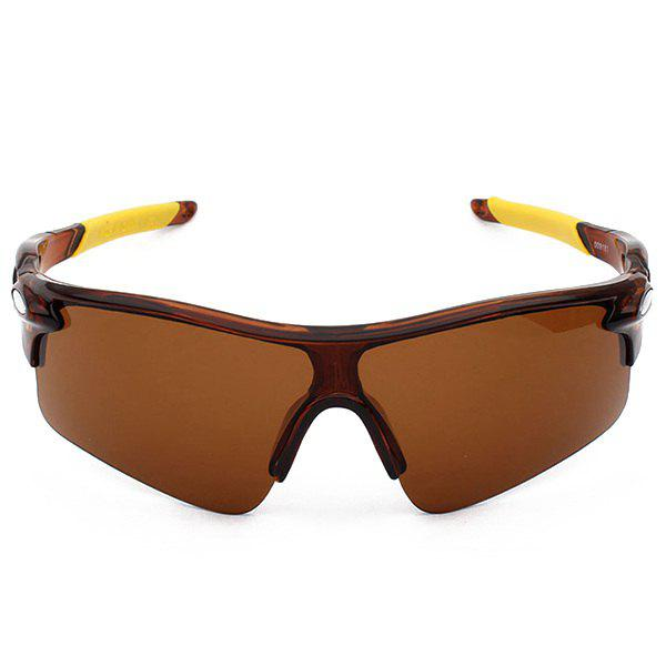 Outdoor Sport Anti UV Cycling Sunglasses - TEA COLORED