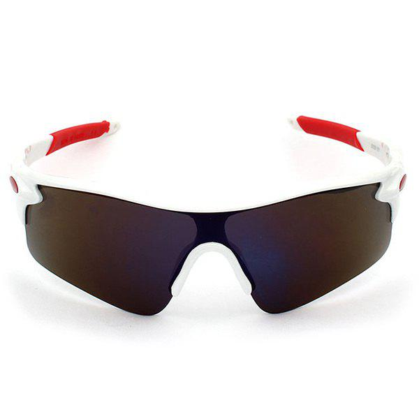 Outdoor Sport Anti UV Cycling Sunglasses - RED/WHITE
