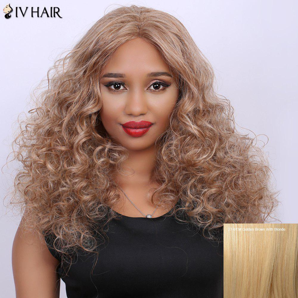 Curly Long Fluffy Centre Parting Real Natural Hair Siv Wig centre parting real natural siv hair long fluffy curly wig