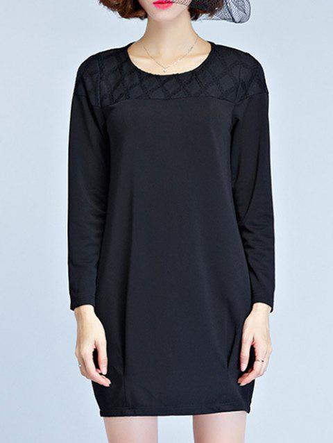 Long Sleeve Mini Robe t-shirt - Noir L