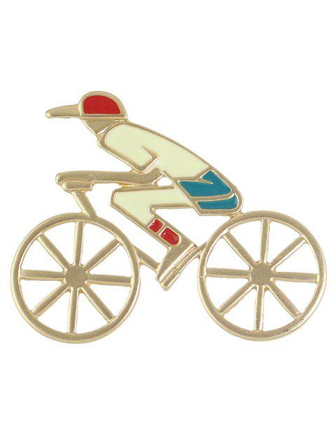Évider Bicycle Boy Broche Forme - Or
