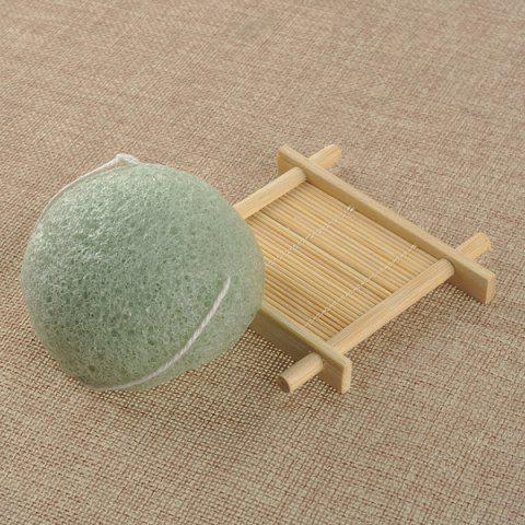 Half Ball Shape Facial Cleansing Sponge - GREEN
