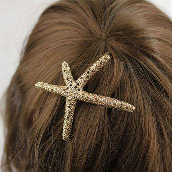 Retro Style Rhinestone Embellished Starfish Shape Hairpin For Women