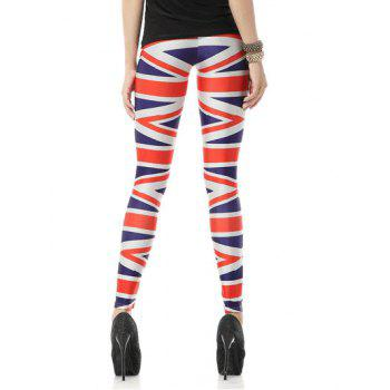 Striped Elastic Leggings - STRIPE M