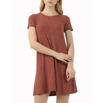 Short Sleeve Affordable Flare T-Shirt Dress