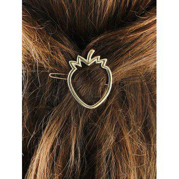 Alloy Strawberry Hollow Out Hairgrip