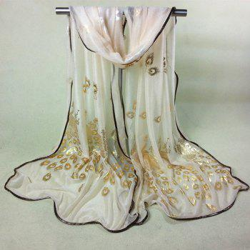 Chinese Yunnan Peacock Gilding Covered Edge Soft Scarf