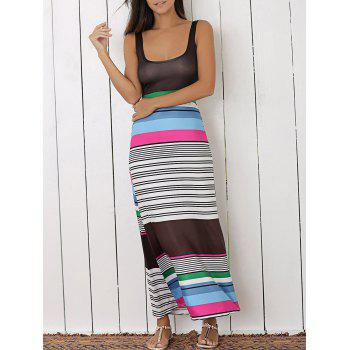 Striped Colored Maxi Dress