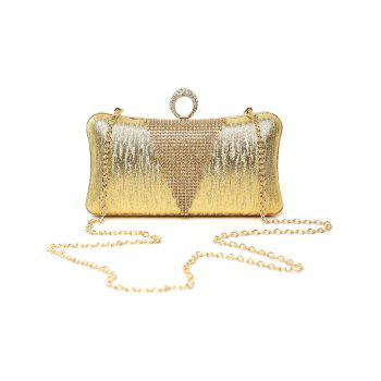Clip Beading Ring Chains Evening Bag - GOLDEN GOLDEN