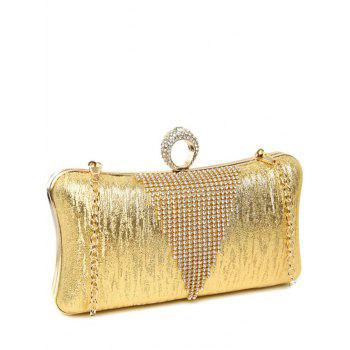 Clip Beading Ring Chains Evening Bag -  GOLDEN