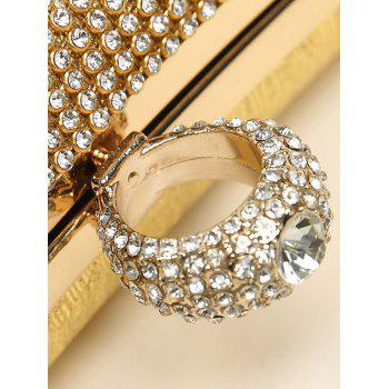 Clip Beading Ring Chains Evening Bag -  SILVER