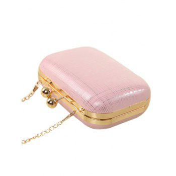Kiss Lock Stripe Chains Evening Bag -  PINK