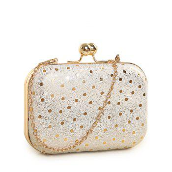 Kiss Lock Stripe Dot Evening Bag - GOLDEN GOLDEN