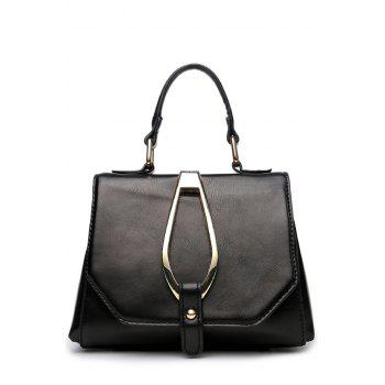 Stitching Magnetic Metal Flap Tote Bag