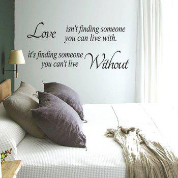 Love Proverbs Embellished Removeable Wall Sticker - BLACK