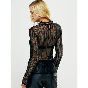 Lace See-Through Tee - L L