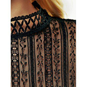 Lace See-Through Tee - BLACK BLACK