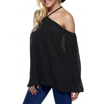 Off The Shoulder Loose Chiffon Blouse