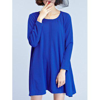 Swing Mini Dress - BLUE L