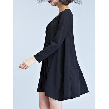 Swing Mini Dress - BLACK BLACK