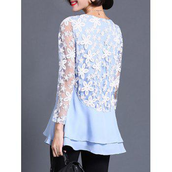 See Through Layered Blouse - L L