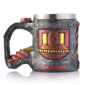 Drinkware Ancient Castle Pattern Resin Coffee Mug - BROWN BROWN