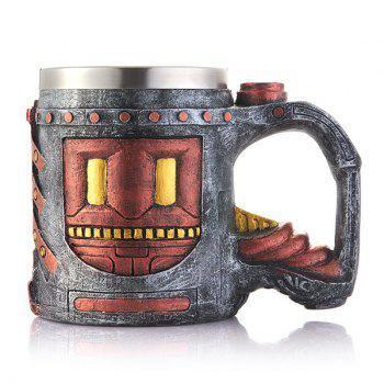 Drinkware Ancient Castle Pattern Resin Coffee Mug -  BROWN
