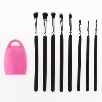 Cosmetic 8 Pcs Goat Hair Eye Makeup Brushes Set with Brush Egg