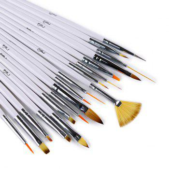 Nail Art Tools 18 Pcs Fiber Drawing Pens -  WHITE
