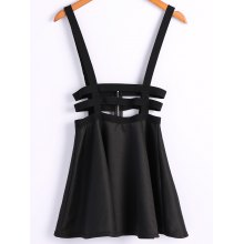 Zip Suspender Skirt