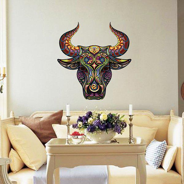 Decorative Color Tauren Pattern Removeable Wall Sticker - COLORMIX