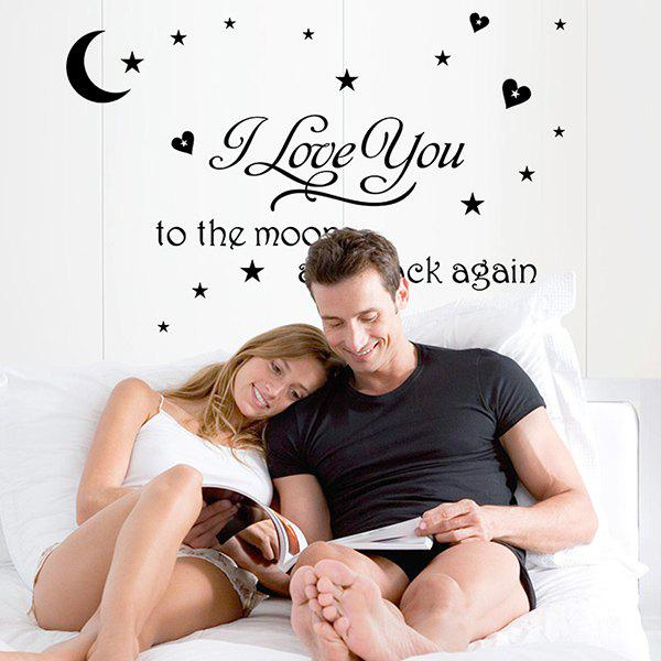 Proverbs Embellished Removeable Moon Stars Pattern Wall Sticker