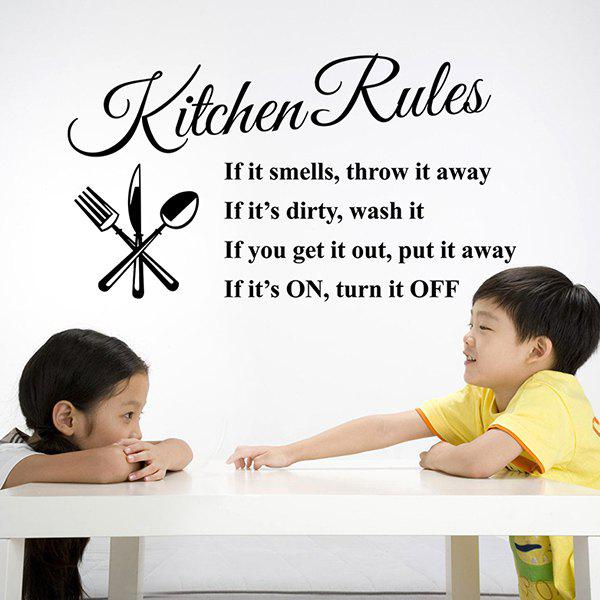 Kitchen Rules Proverbs Embellished Removeable Wall Sticker