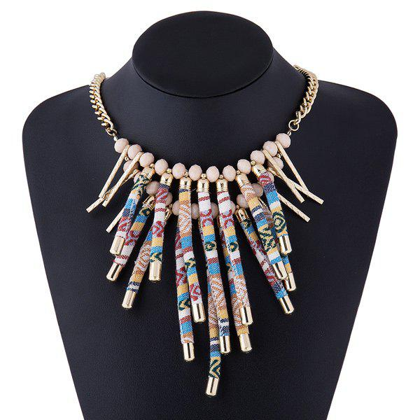 Layered Rope Fringe Necklace - COLORMIX