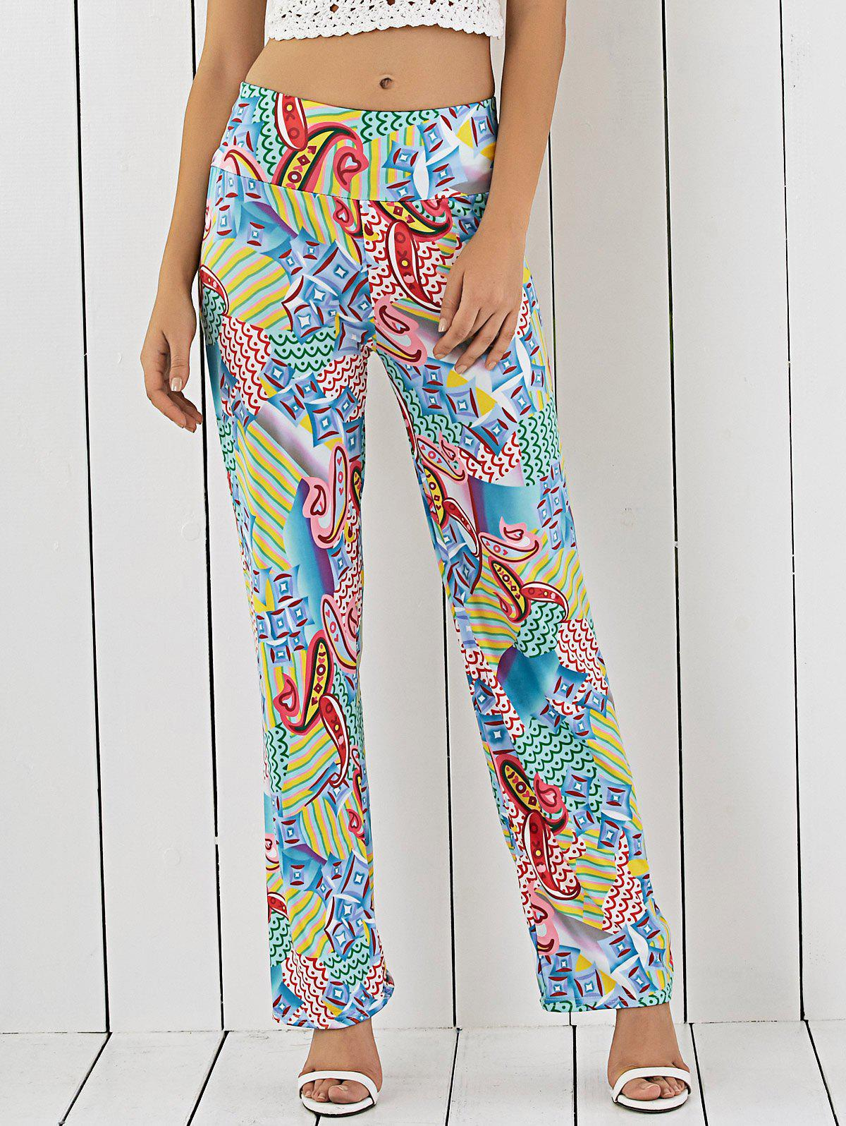 Printed Loose-Fitting Exumas Pants - COLORMIX XL