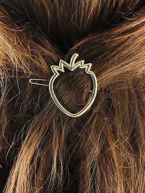 Alloy Strawberry Hollow Out Hairgrip - GOLDEN