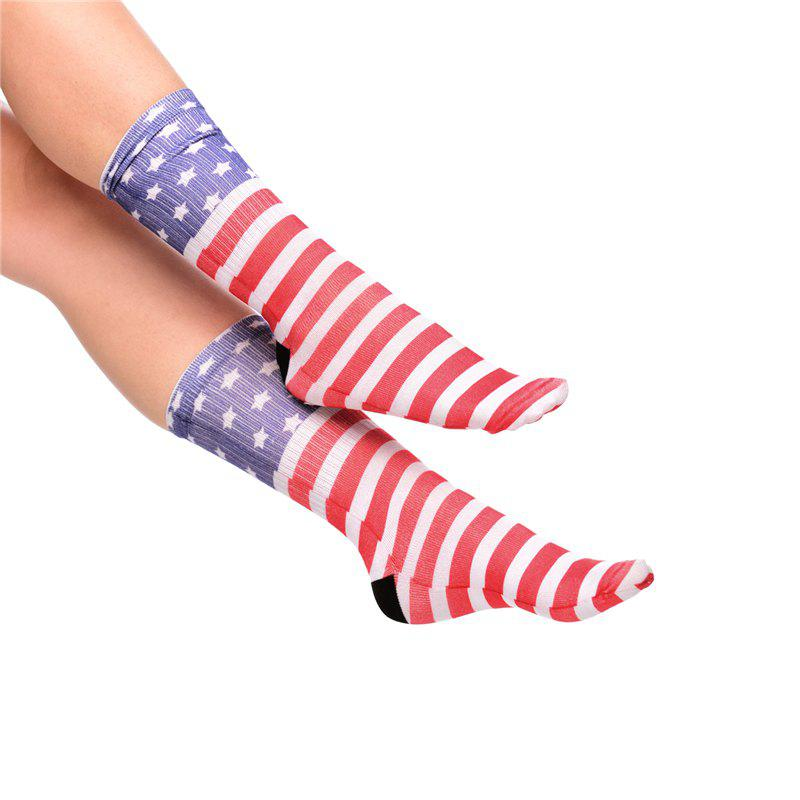Casual Style American Flag Pattern Socks - RED