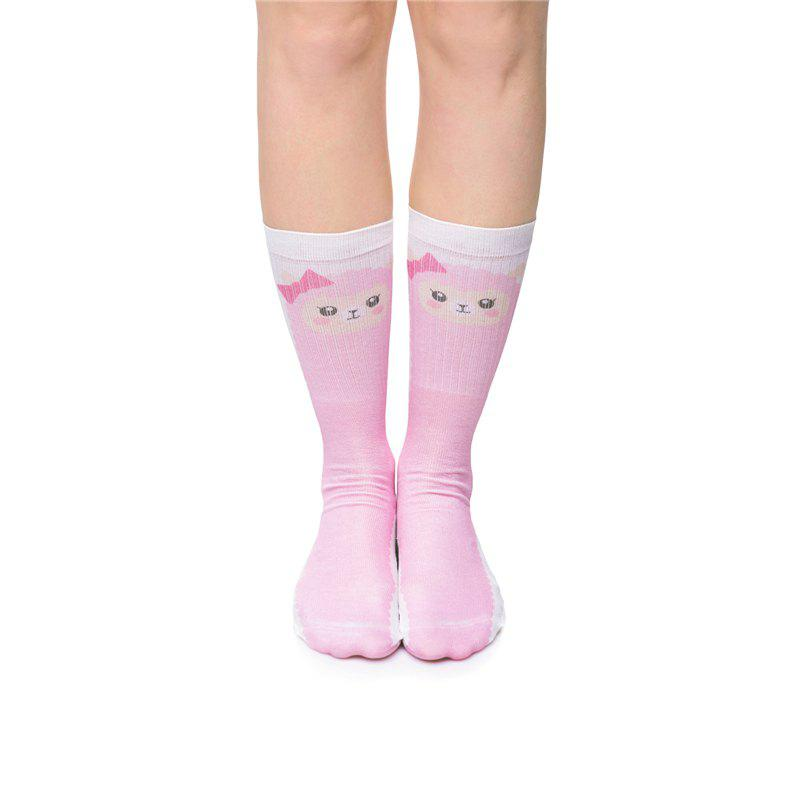 Casual Style Cartoon Sheep Pattern Socks - PINK