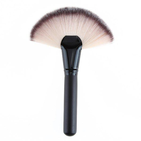 Cosmetic Nylon Fan Brush - BLACK