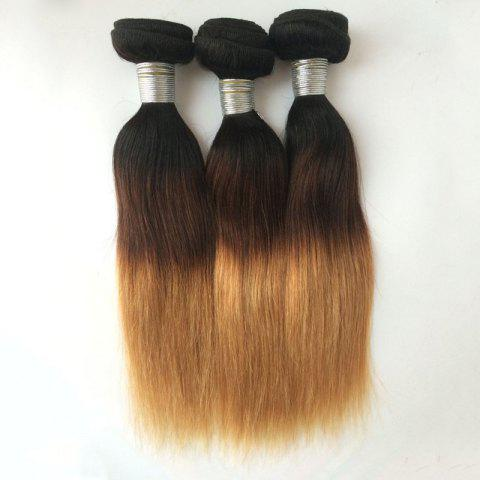 Multi 1Pcs Straight Indian 5A Remy Hair Weave - COLORMIX 20INCH