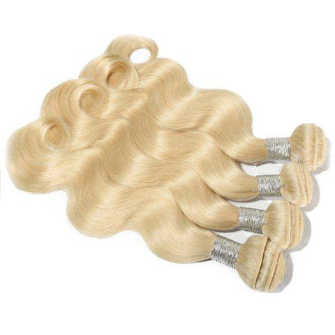 Sparkling 1Pcs Body Wave Indian 5A Remy Hair Weave - BLONDE 613 10INCH