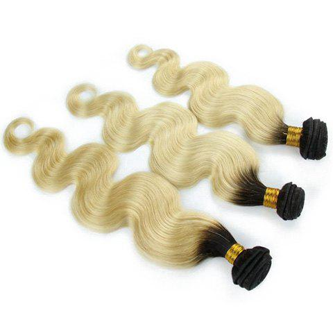 Multi 1Pcs Body Wave Indian 5A Remy Hair Weave - multicolore 20INCH