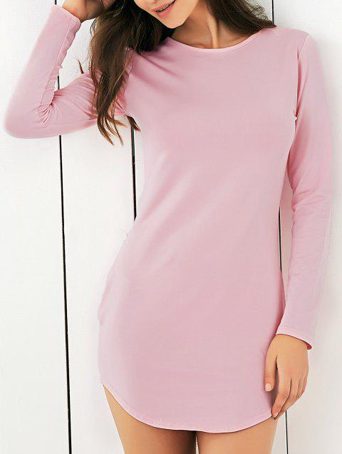 Manches longues Pure Color Club robe - Rose 2XL