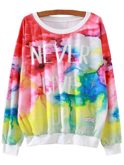 Lettre Colorful Imprimer Sweatshirt vrac - multicolore S