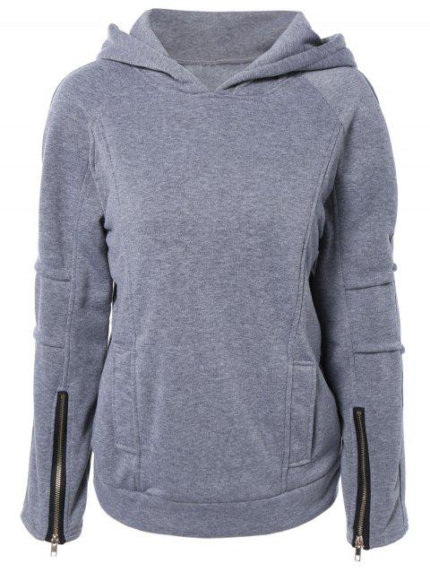 Zip Hooded Up Hoodie manches longues - Gris S