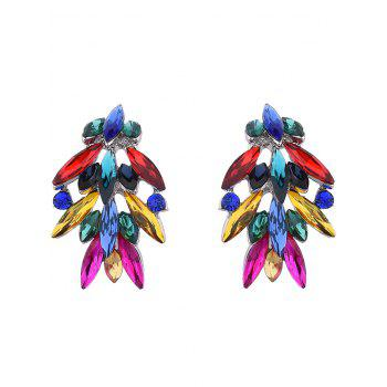 Colored Faux Crystal Drop Earrings