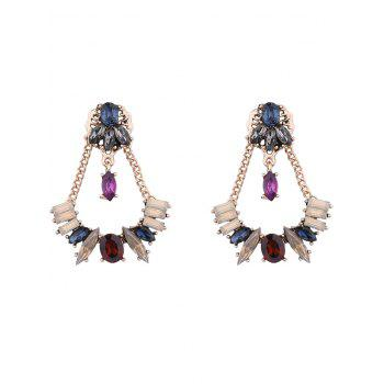 Faux Crystal Chains Geometric Earrings