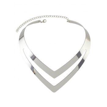 V Shape Hollow Out Necklace